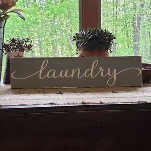 BRAND NEW Handmade LAUNDRY Wooden Sign